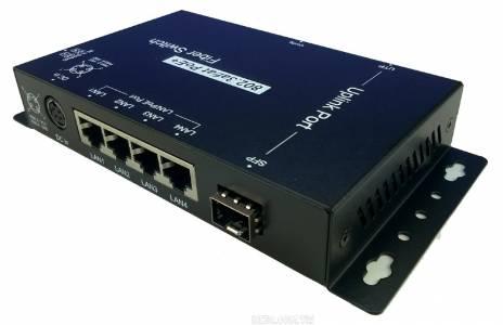 4 port PoE+ 1 port Combo智能千兆光纖交換器